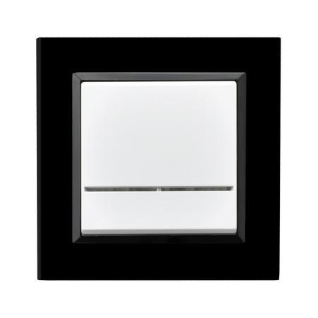 Łącznik jednobiegunowy ŁP-1RS/00 ramka z czarnego szkła seria Sonata OSPEL
