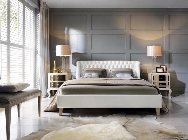 Elegancka sypialnia – wnętrze diwy