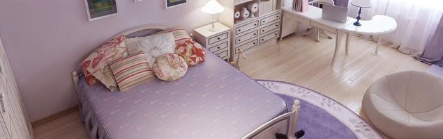 Pokój dla dziewczynki - projekty pokoi dla dzieci