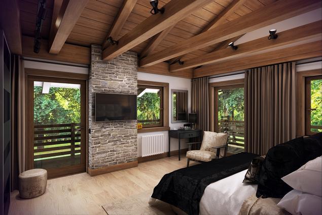 Pomysł na sypialnię - nowoczesne wnętrze