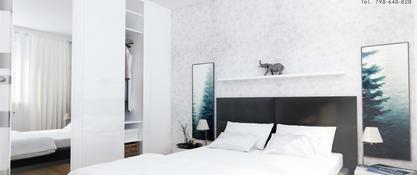 Projekt mieszkania w Chorzowie - sypialnia