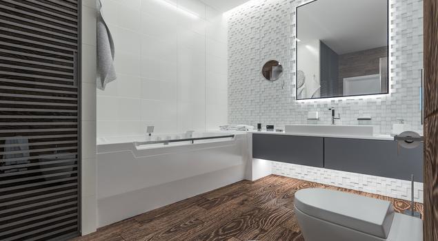 funkcjonalna aran acja azienki pomys na bia azienk. Black Bedroom Furniture Sets. Home Design Ideas