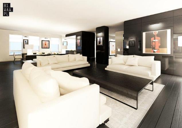 Aranżacja mieszkania w stylu galerii sztuki. Kinkiety i podłogi dębowe w apartamencie